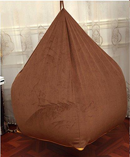 Creative unique mignon tissu paresseux canapé sac de haricots (Couleur : Marron)