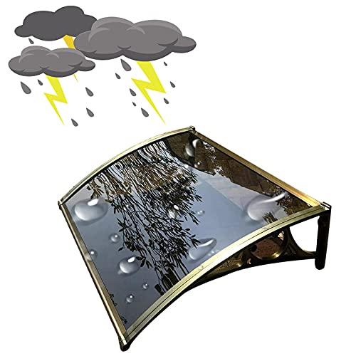 60 x 60 cm Tejadillo de Protección para Puertas Ventanas contra Sol y Lluvia Marquesina de Techo para Jardín Duradero 120 x 60 cm Transparente