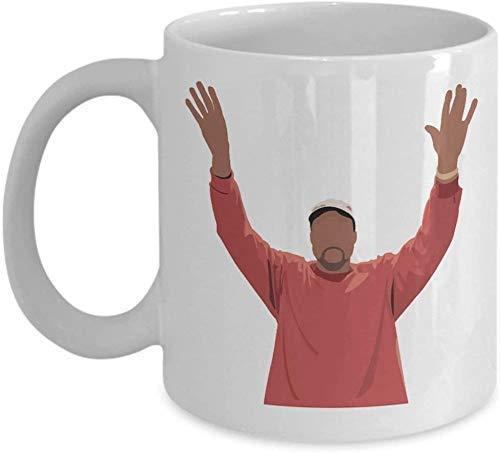 N\A Pablo Kanye West (weiß) 11 Unzen - Kanye West Kaffeetasse-Schale Geschenke Fans Kunst Merch Aufkleber Aufkleber Poster - Yeezy Zubehör Merchandise - Leben Pablo