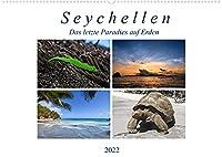 Seychellen - Das letzte Paradies auf Erden (Wandkalender 2022 DIN A2 quer): Inseln wie aus dem Bilderbuch. Lange weisse Sandstraende, Palmen und glasklares Wasser. (Monatskalender, 14 Seiten )