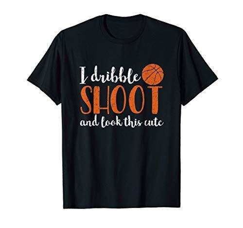 Regateo, tiro y miro este lindo diseño de baloncesto Camiseta