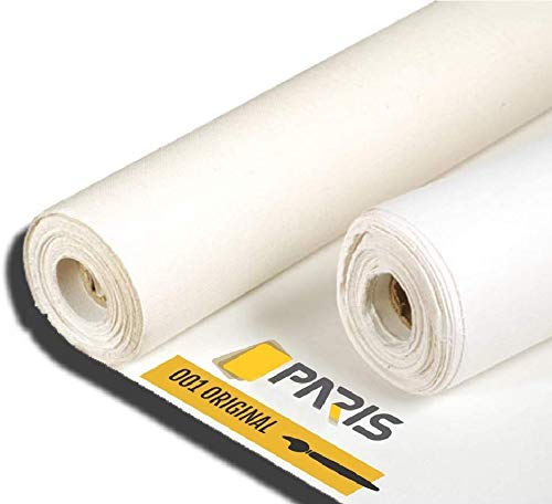 Paris Canvas Artist Canvas Roll Double Primed Acrylic Primed Cotton 36' X 5.97 YD