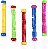 Family in 5 stücke Unterwasser Schwimmbad tauchstöcke Spielzeug Schwimmbad Wasser Spielzeug Sommer...
