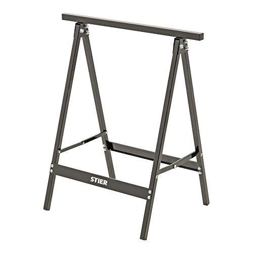 STIER Stahl Arbeitsbock 100 kg, klappbar, Sägebock, Unterstellbock, Klappbock, Unterstellbock