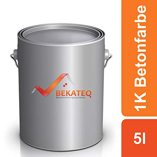 BEKATEQ Betonfarbe LS-470 zur Beschichtung und Versiegelung - RAL7023 Betongrau - 5L