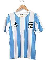 Rongchuang Maglietta da Calcio retrò Argentina, Maglia da Calcio Maradona Ball King per La Nostra Divisa da Calcio Vintage Classica per Sempre N. 10 Eroe 1986 Coppa del Mondo Argentina