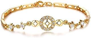 Creative 18K Gold Plating Ladies Bracelet Fashion Cubic Zirconia Bracelet For Women