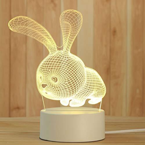 Xyxiaolun Lámpara de Noche Creativa 3D, luz de Noche de Escritorio acrílica para niños y niñas, lámpara de Noche Decorativa, lámpara de mesita de Noche para Dormitorio(2)