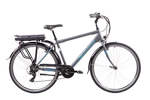 F.lli Schiano E- Light 1.0 - Bicicleta eléctrica Men\'s Antracita, 28 Pulgadas