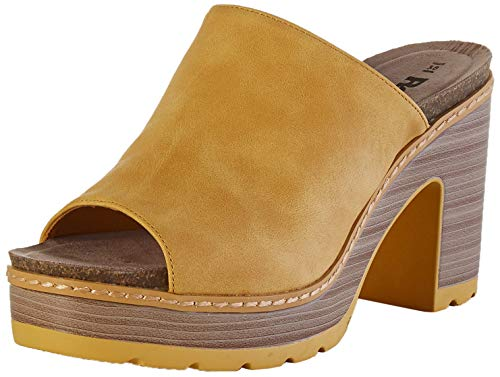 Refresh 69496.0, Sandalias con Plataforma Mujer, Amarillo, 40 EU