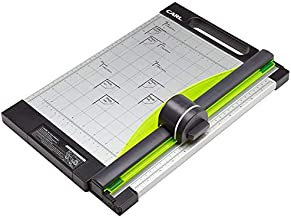 CARL 12 inch-Green Friendly, Professional Rotary Paper Trimmer, 12-inch, 15 sheet cutting capacity, Black And Silver