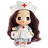 lijun Enfermera Vestir Juguetes de Bricolaje niña Princesa muñecas de Trapo Vinilo niños Juguete 12 articulaciones giratorias móviles cumpleaños