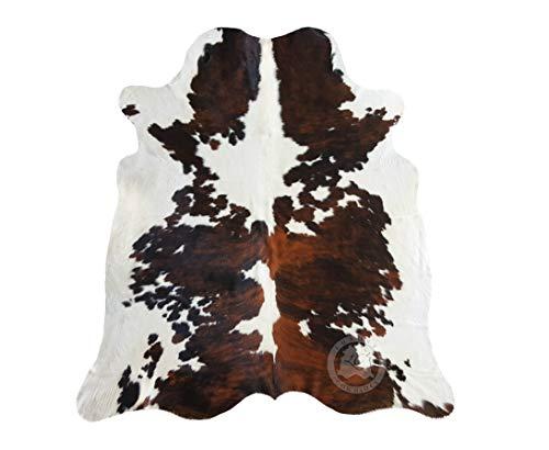 Sunshine Cowhides Teppich aus Kuhfell, Farbe: Tricolor Größe 190 x 160 cm - Premium - Qualität von Pieles del Sol aus Spanien