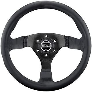 Sparco 015TSDLN Strada Black Leather Steering Wheel