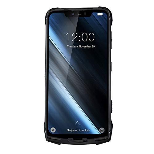 DREI sichere Handy IP68 / IP69K Modular Rugged Mobile Phone 6.18inch Anzeige 5050mAh Helio P60 Octa-Core 6GB 128GB Android 8.1 16.0 Cam,Schwarz