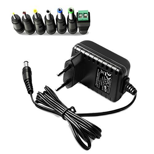 PFMY 5V 2A Switching Adaptor Power AC Adapter Transformador Cargador Adaptador Contiene 7 Conectores Universal Compatible para Android TV Box, Media Player, IP Camera, Enrutador