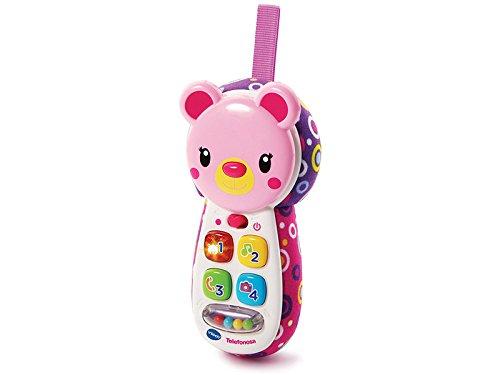 VTech- Telefonosa Teléfono Interactivo de Juguete, Color Rosa (3480-502757)