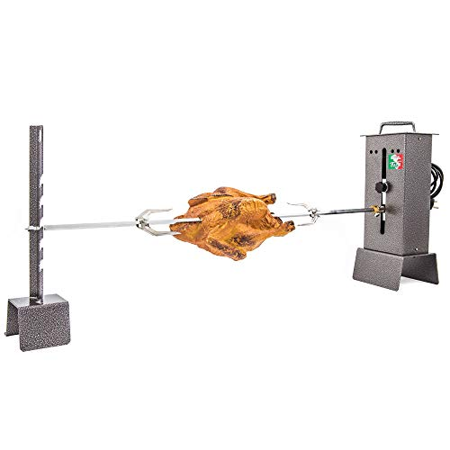 Giemme Spoleto Asador Giratorio Para Chimenea o Barbacoa C Regulable, Eléctrico, Capacidad 6 Kilogramos