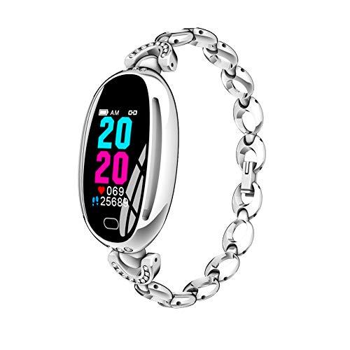 Bluetooth Smartwatch Intelligente Armbanduhr Fitness Tracker IP67 Wasserdichtes Sport Uhr mit Herzfrequenz Schrittzähler Blutdruckuhr für Android/IOS für Damen (Silber)