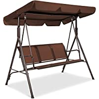 Best Choice Products 3-Seater Outdoor Adjustable Canopy Swing Glider