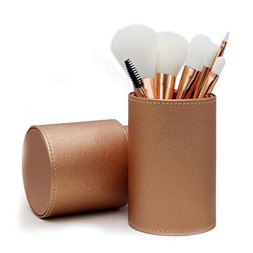 Guotail Maquillage Brosse beauté Maquillage Kit Ombre à paupières Brosse Maquillage Seau Brosse Blush,Brown