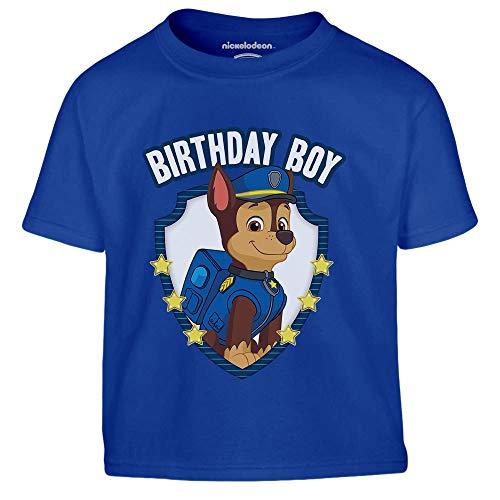 PAW PATROL Geburtstag Junge - Chase Birthday Boy Kinder Jungen T-Shirt 104 Blau