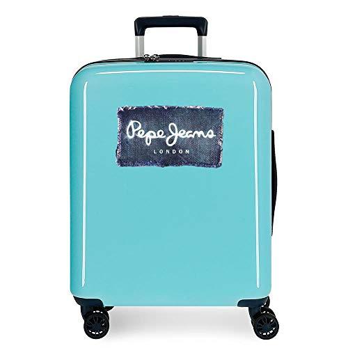 Pepe Jeans Jacob Maleta de cabina Verde 40x55x20 cms Rígida ABS Cierre TSA integrado 38,4L 2,5 kgs 4 Ruedas Dobles Equipaje de Mano