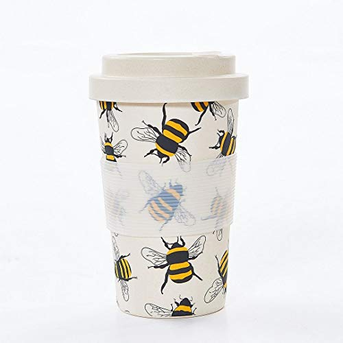 Eco Chic Taza de café de bambú reutilizable (abejas neutras)
