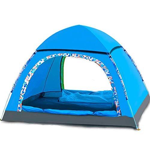 Tienda de camping carpa de la familia de la ventana emergente instantánea automática para 3-4 personas, Tienda de cúpula ligera a prueba de lluvia al aire libre 200 * 200 * 130cm Tienda de campaña aut