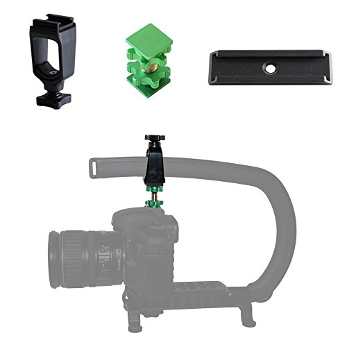 """Cam Caddie Scorpion / EX Lockout Kit and Stabilizer Support Mount / Bracket for Canon Nikon Sony and Panasonic / Lumix DSLR Camera Includes: (1) Accessory Shoe + (1) D – Flashner + (1) 3"""" Balance Wing"""