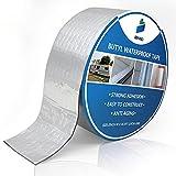 SENKEI Butyl Waterproof Tape 2'W X 16.4'L, Multi-Use Outdoor Waterproof Leak Repair and Seal Strip, for Window, Roof, RV, Boat, Tent, Aluminum Foil Tape with Strong Butyl Rubber