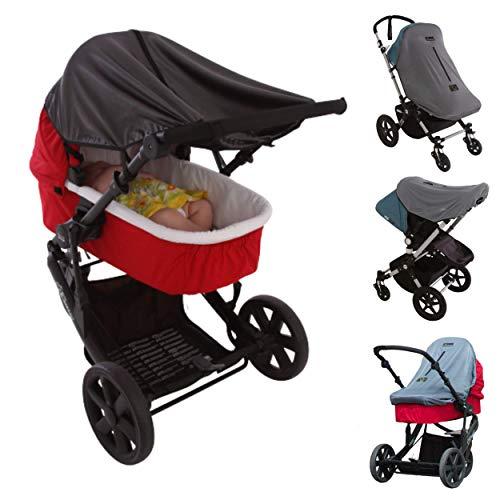Universelles Sonnensegel Kinderwagen (0-6 Monate) |Kinderwagen Sonnenschutz, der 97,5 % der UV-Strahlen Blockt und den Schlaf Ihres Babys Verbessert | SnoozeShade Original Deluxe