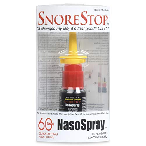Snore Stop NasoSpray 60 Nasal Sprays Natural Anti-Snoring Solution Snore Relief To Stop Snoring Remedy Sleep Aid Device Free Helps Stop Snores Anti-Snore Spray One Month Supply