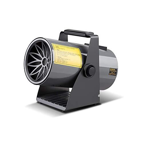 boknight Calentador Industrial con soplador de Aire Caliente, Calentador de Ventilador eléctrico de 3 kW, calefacción de cerámica, protección contra sobrecalentamiento, Ajuste de Tres velocidades