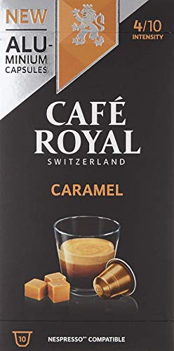 Café Royal 50 Caramel Flavoured Edition Nespresso®* kompatible Kapseln aus Aluminium - Intensität 4/10 - 50 Kaffeekapseln (5 x 10 Pack) - UTZ - Kompatibel mit Nespresso®* Kaffeemaschinen