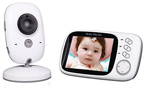 Learn More About Pomiacam VB603 Wireless Baby Nanny Monitor 3.2 Inch LCD Display Video Baby Monitor ...