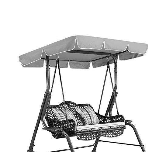 ガーデンスイングカバー スイングカバー ガーデンテーブル保護カバー スイングチェアシート 防水トップカバー 屋外家具保護 交換用 吊り椅子防塵(グレー)