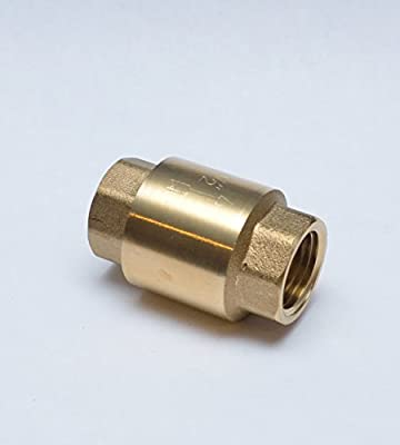 """FASPARTS 1/2"""" NPT Female / FPT / FIP Inline Anti Back Flow Check Valve Coupler Brass Fitting Fuel / Air / Water / Boat / Gas / Oil WOG from FASPARTS"""
