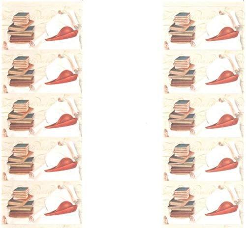 100 PZ Bigliettini bigliettino bomboniera Laurea feluca e pergamena