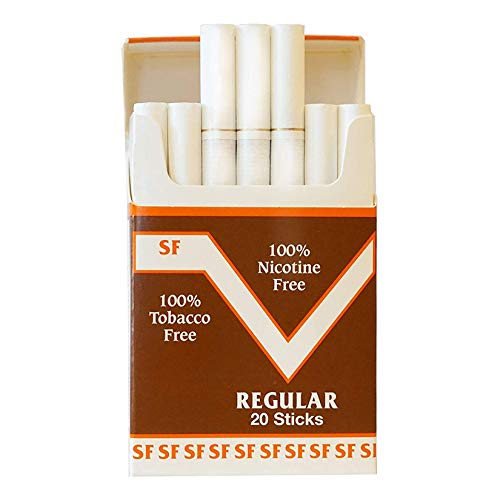 One Pack Made in USA Since 1998 100% Nicotine Free(Cocoa Bean Cigarettes) Regular Flavor