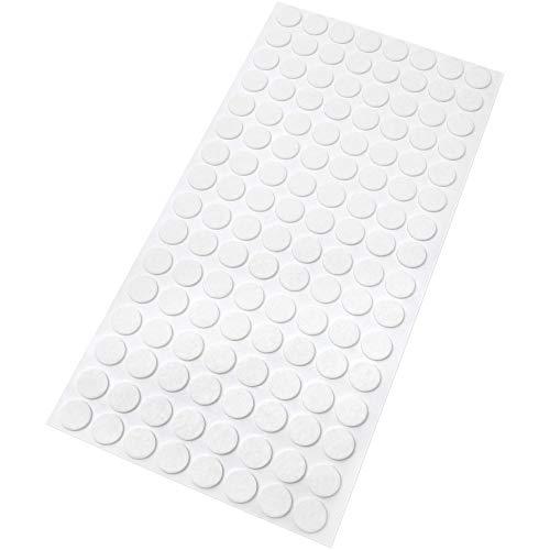 Adsamm® 128 x Filzgleiter | Ø 12 mm | Weiß | rund | 1.5 mm dünne selbstklebende Filz-Möbelgleiter in Top-Qualität