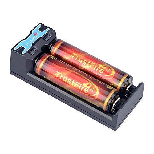 TrustFire TR-016 - Caricatore USB per batteria agli ioni di litio IMR 18650 10440 14500 16340 17335 17670 18350 18500 da 3,7 V (batterie non incluse)