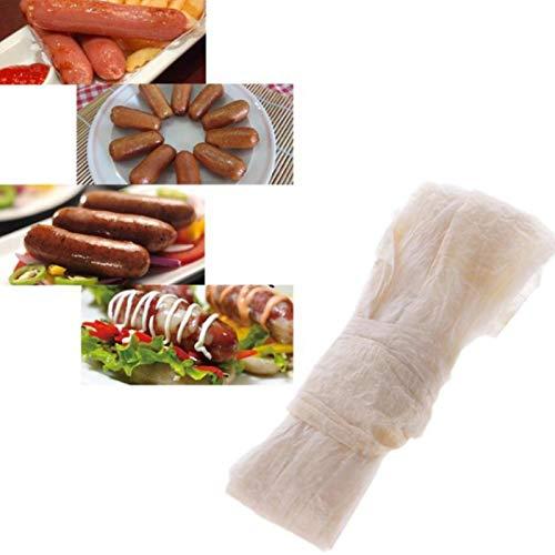 Younar 10Pcs 28-30mm Edible Dry Fine Sheep Sausage Casing for Making Roast Sausage, Dried Sausage, Sausage, Hot Dog,8.2ft