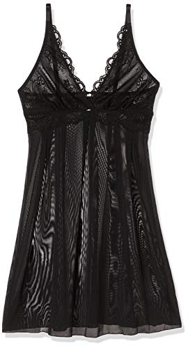 edc by ESPRIT Damen 107CF1T025 Unterhemd, Schwarz (Black 001), 40