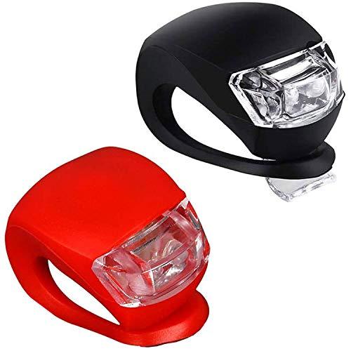Grunda 2er Set regenfest Kinderwagenlicht mit heller LED & 3 Leuchtfunktionen inkl. CR 2032 Batterien, Sehen und gesehen werden mit dem Kinderwagen, Flexible Silikon Klemmleuchte für mehr Sicherheit