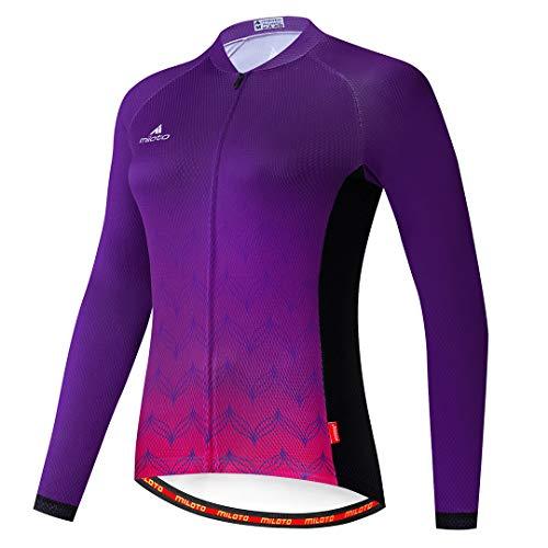 Women's Cycling Jersey Long Sleeve Bike Jacket Biking Shirt Quick Dry Breathable Mountain Bicycle Clothing