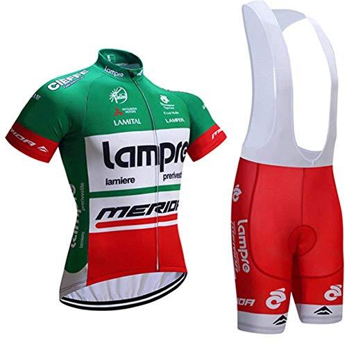 TOPBIKEB fietsbroek voor heren en truien, sneldrogende fietskleding met zakken en reflecterende banden voor nachtfietsen