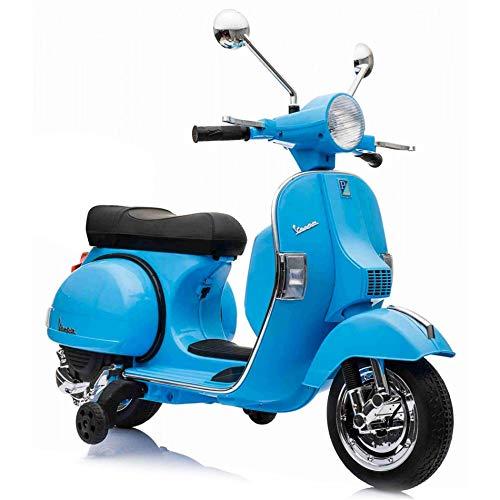 SIP Scootershop Kinderroller Vespa PX, elektrisch 12V, blau, inkl. Batterie u. Ladegerät