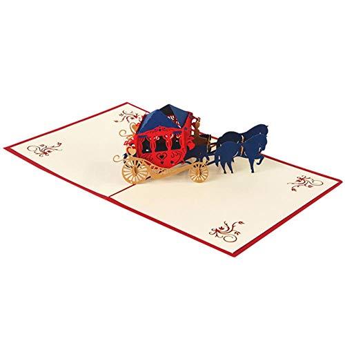 ERFHJ Bruiloft decoratie nieuw jaar verjaardag partij wagen vorm kant bruiloft uitnodiging kaart partij blanco envelop wenskaart