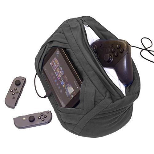 Yogibo Tablo X スタンドホルダー 任天堂スイッチ用 ヘッドレストマウント 車の後部座席用 キャリーケース 取り外し可能 洗濯可能 ダークグレー
